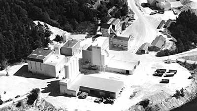 Tehdasalue 1960-luvulla