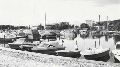 Pienvenesataman veneitä 1980-luvulla