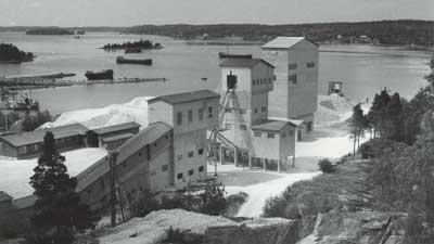Tehdasalue 1950-luvulla